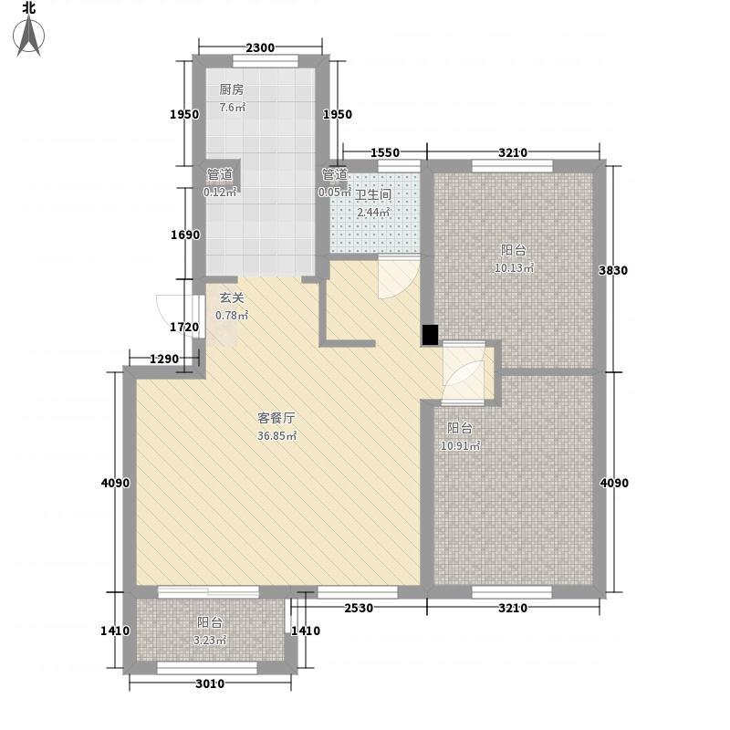 银盛泰书香蔓城87.00㎡d-a户型3室
