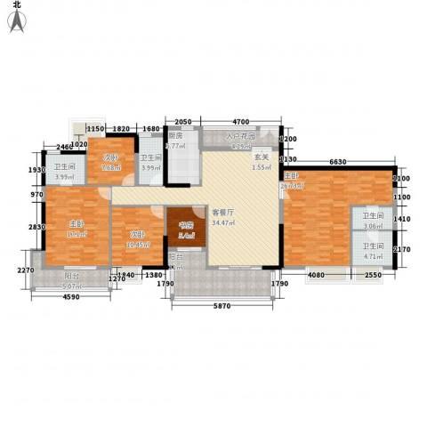 江南新苑5室1厅4卫1厨203.00㎡户型图