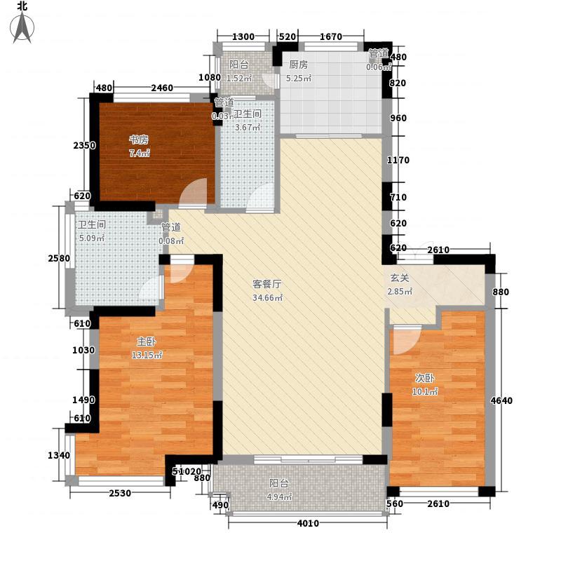 伟业122.00㎡小区户型3室