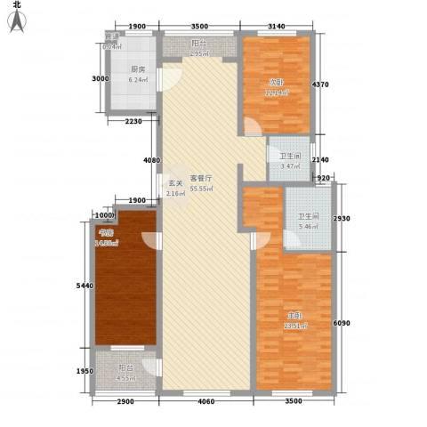 美伦堡3室1厅2卫1厨178.00㎡户型图