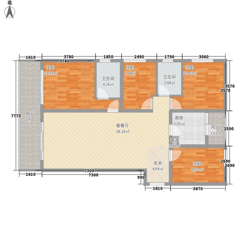 融城・昆明湖4室1厅2卫1厨134.00㎡户型图