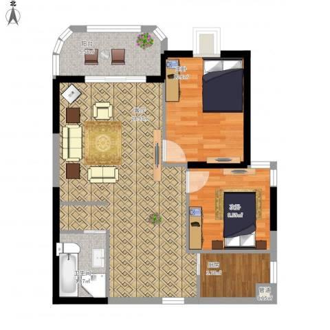 安溪龙湖8882室1厅1卫1厨87.00㎡户型图