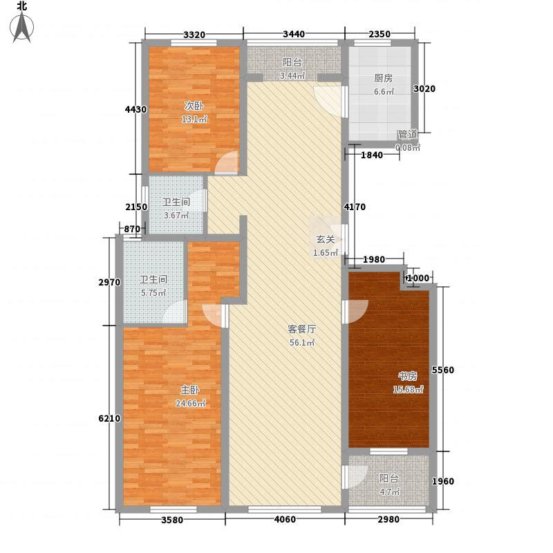 美伦堡183.72㎡反4#D2户型3室2厅2卫1厨