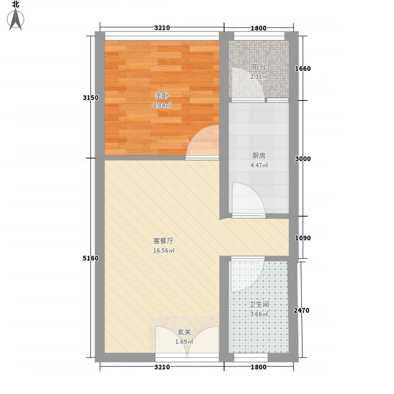 瑞隆城52.00㎡户型1室
