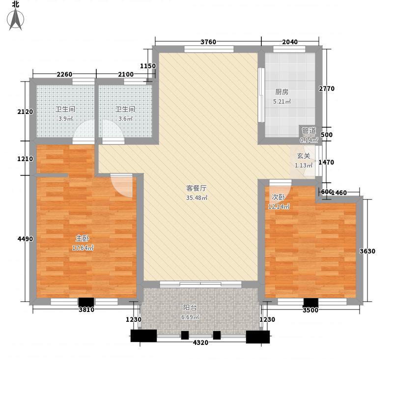 方兴121.00㎡小区二机厂宿舍户型2室