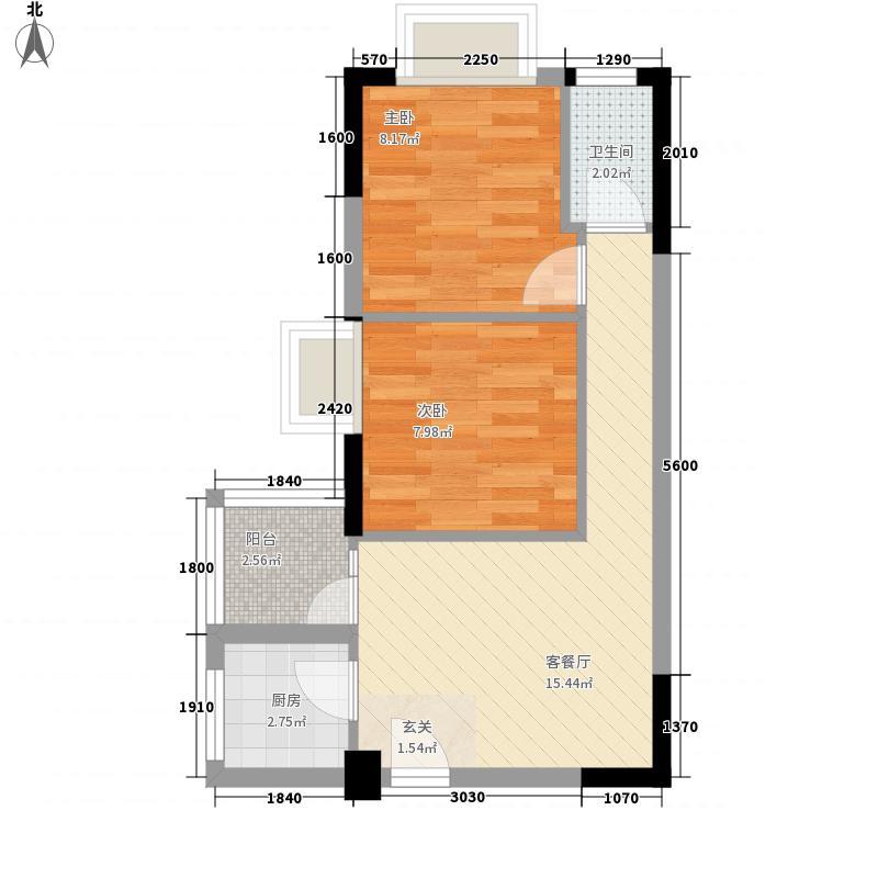 丽格国际公寓43.00㎡户型1室