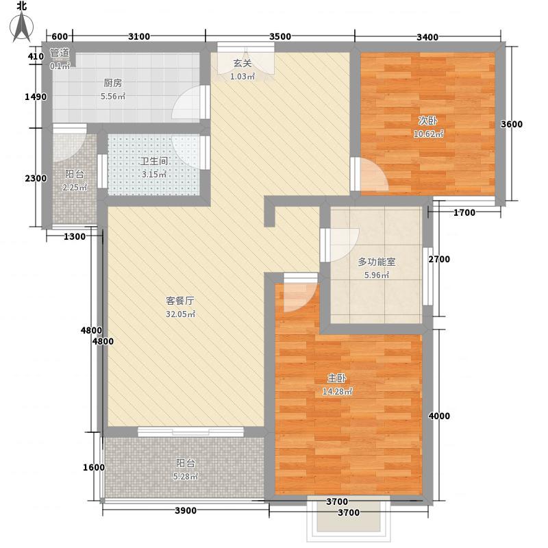 渭河71.00㎡小区户型3室