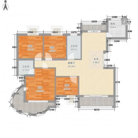 卧龙湾家园4室1厅2卫1厨116.00㎡户型图