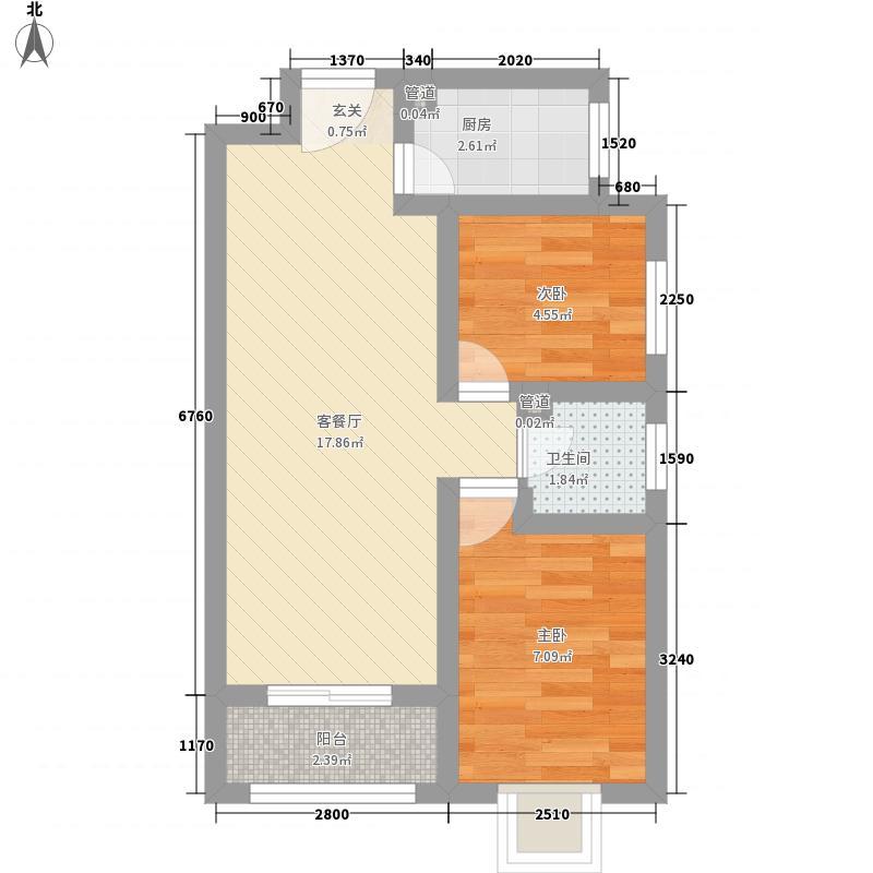 堤角44.00㎡小区户型1室