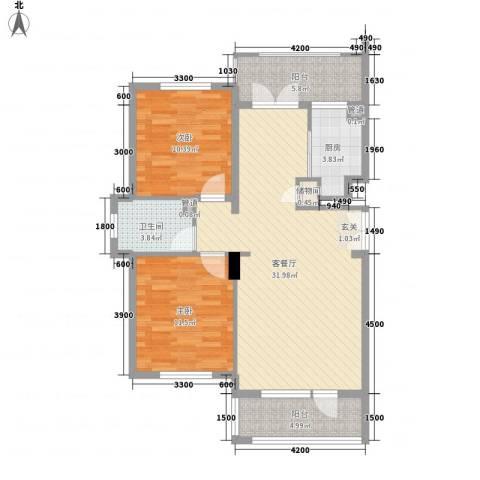 郡原美村2室1厅1卫1厨104.00㎡户型图