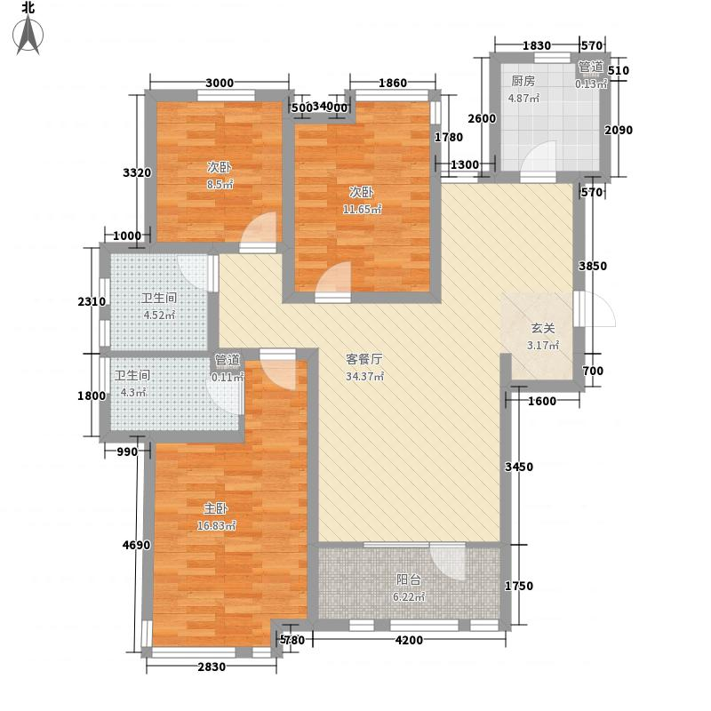邦妮大厦141.00㎡户型3室