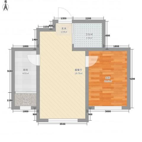 兆丰嘉座1室1厅1卫1厨62.00㎡户型图
