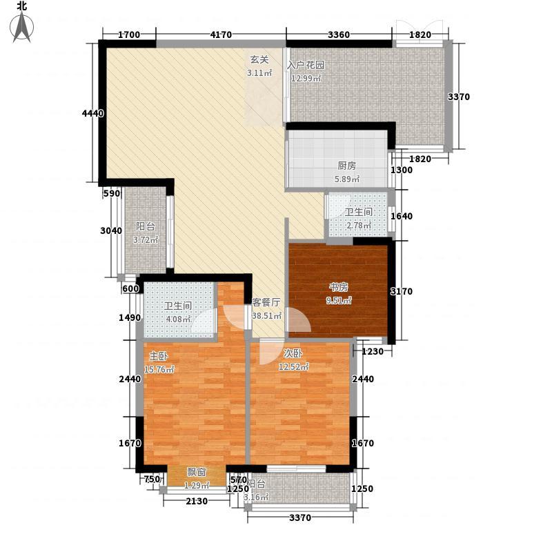 汇东一品5.00㎡1#A2户型3室2厅2卫1厨