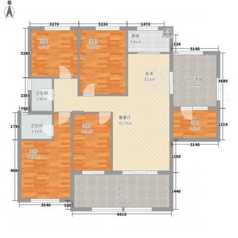 融汇江山5室1厅2卫1厨168.00㎡户型图