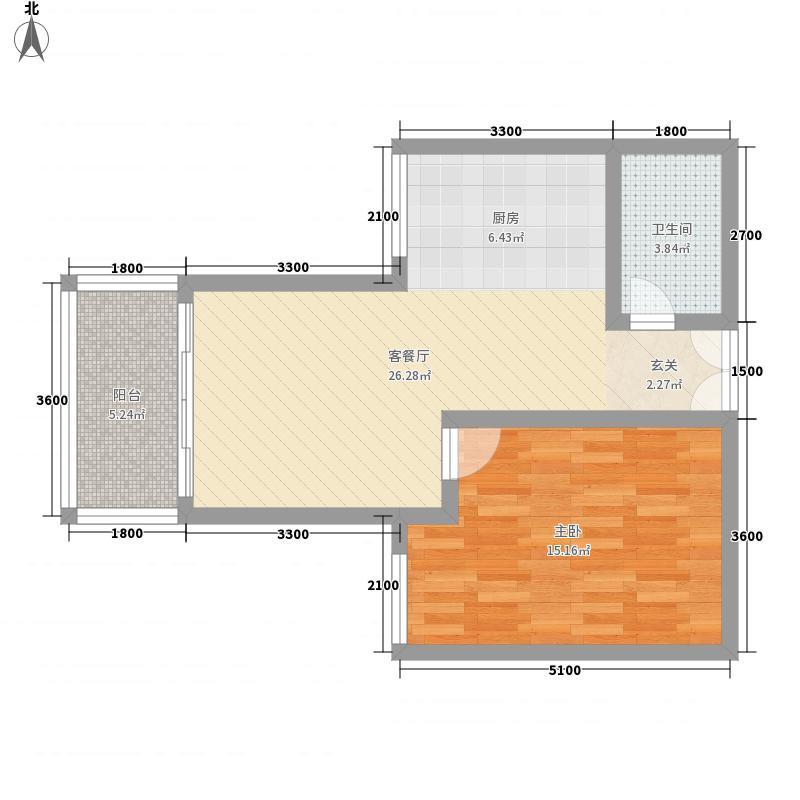 华渝西苑户型1室