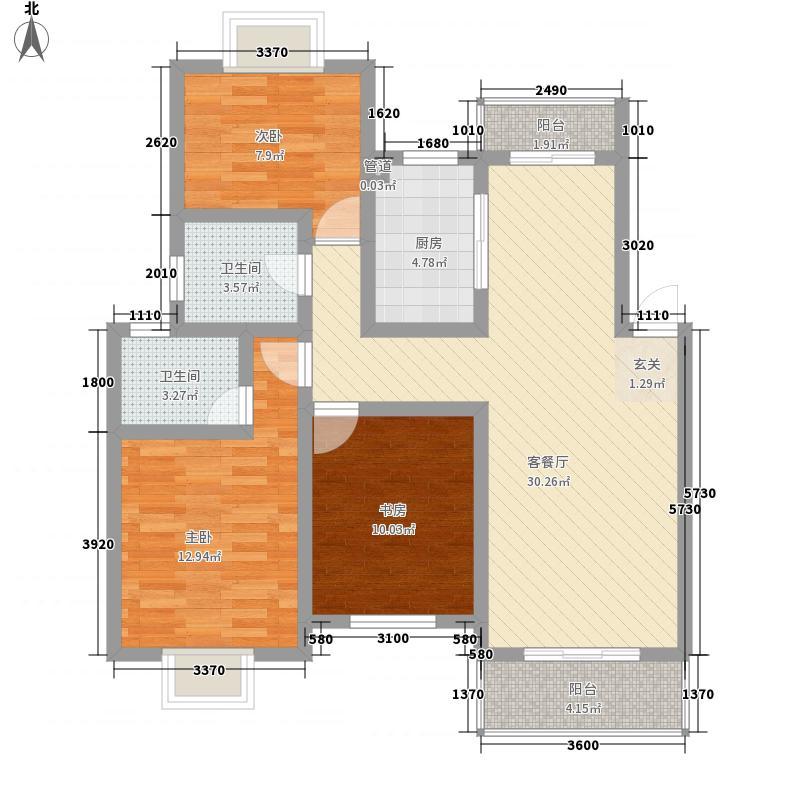 海达115.00㎡小区户型3室