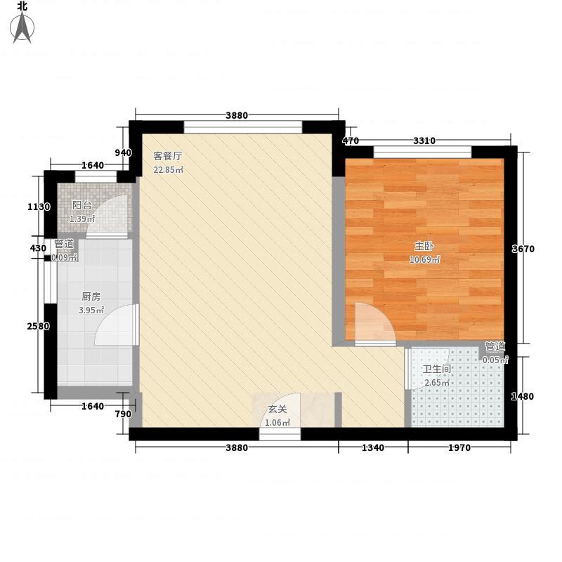 瑞都国际62.00㎡户型1室