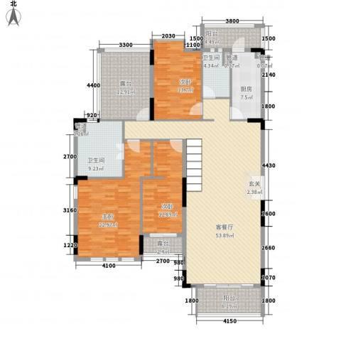 海伦印象3室1厅2卫1厨215.00㎡户型图