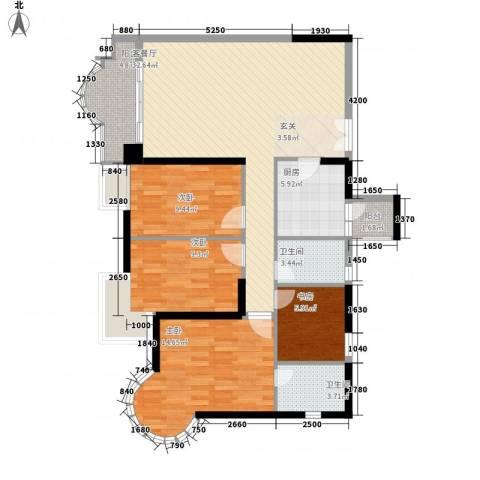 城市杰座4室1厅2卫1厨130.00㎡户型图