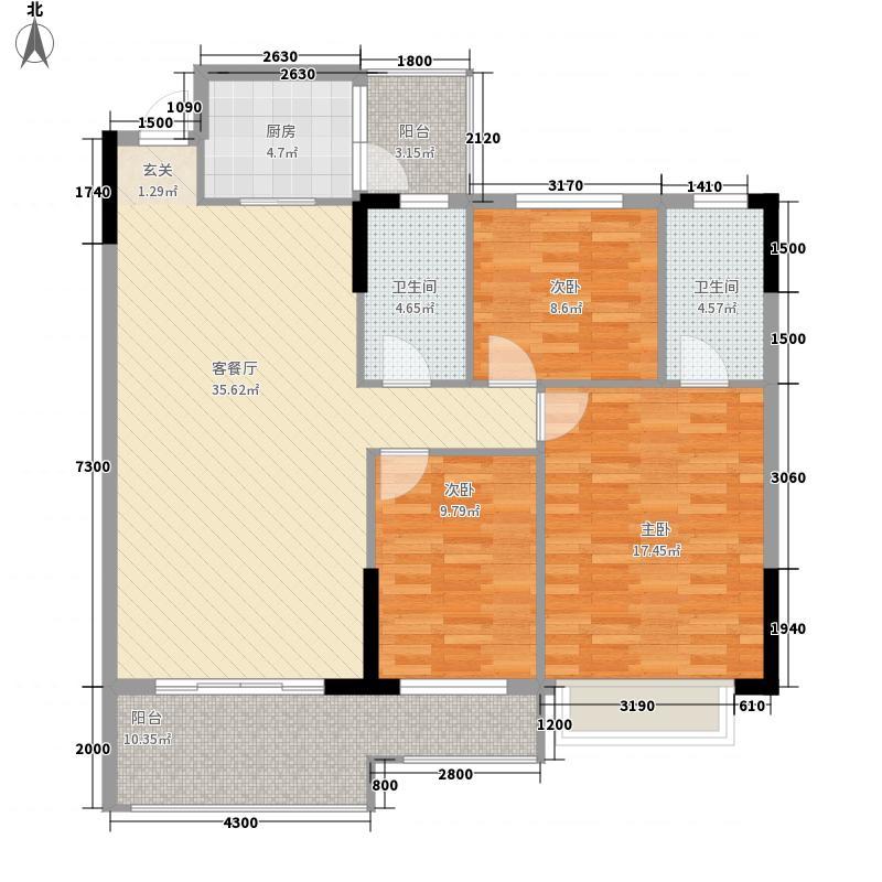 光谷青年城136.00㎡户型3室