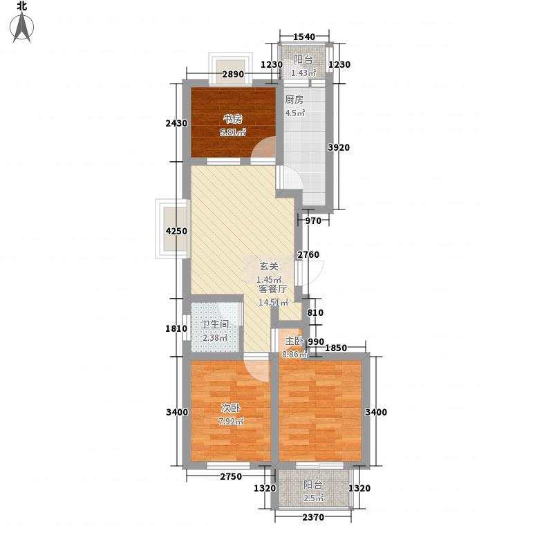 东关苇湾72.00㎡小区户型3室