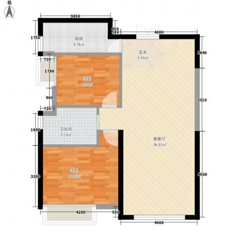 春铁家园2室1厅1卫1厨95.00㎡户型图