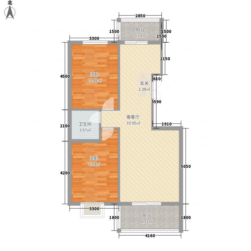 阜康嘉苑户型2室