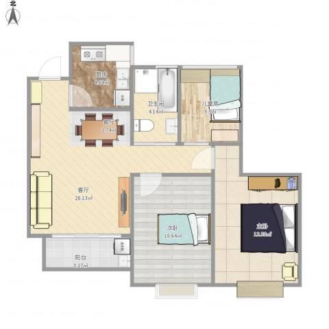 世茂・萨拉曼卡3室1厅1卫1厨83.00㎡户型图
