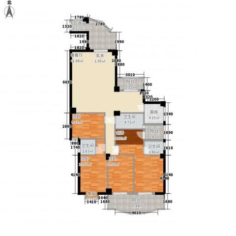 天俊云顶4室1厅3卫1厨134.56㎡户型图