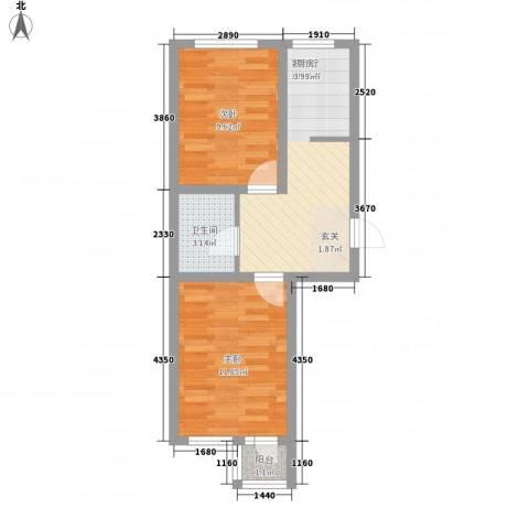 金润花园2室1厅1卫0厨57.00㎡户型图