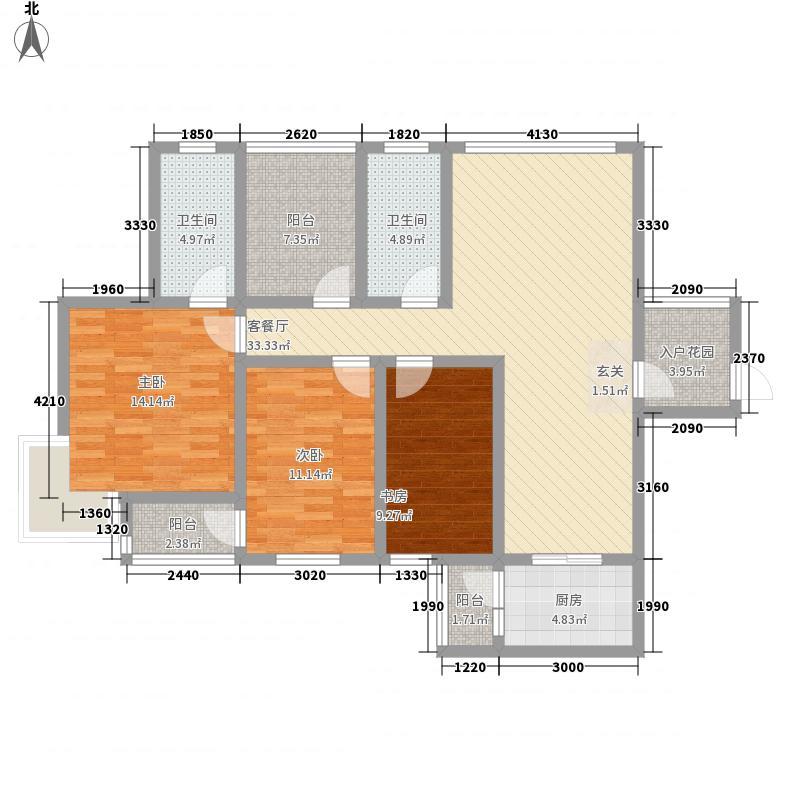 电池厂宿舍3-2-2-1-5户型3室2厅2卫1厨