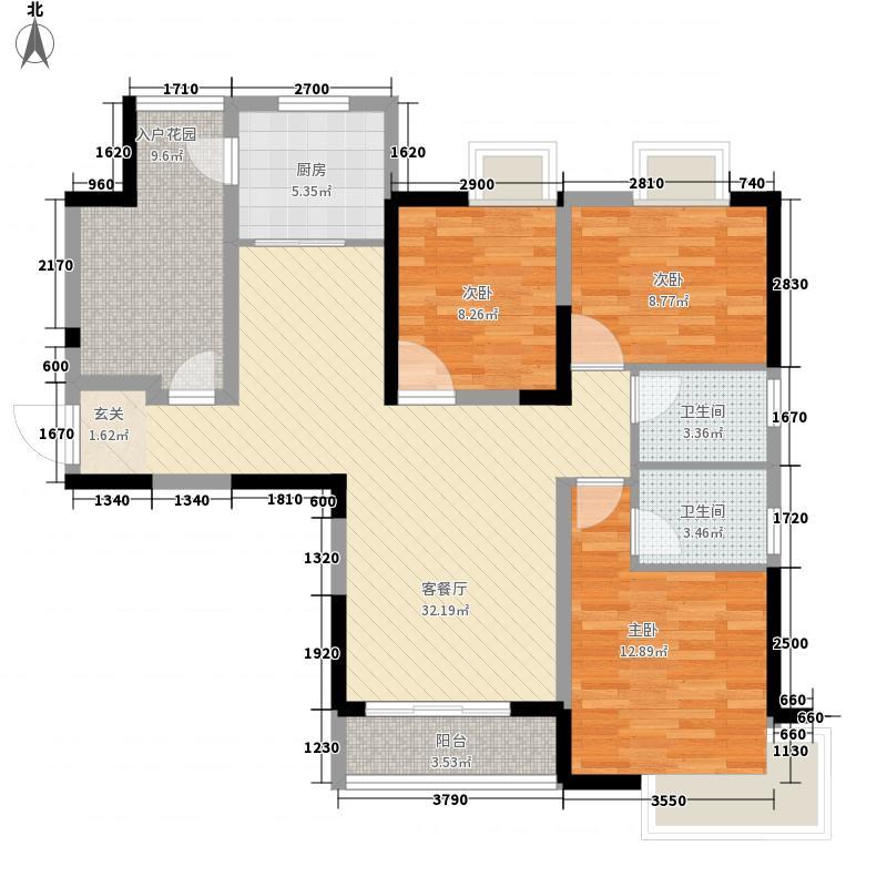 电池厂宿舍3-2-2-1-4户型3室2厅2卫1厨