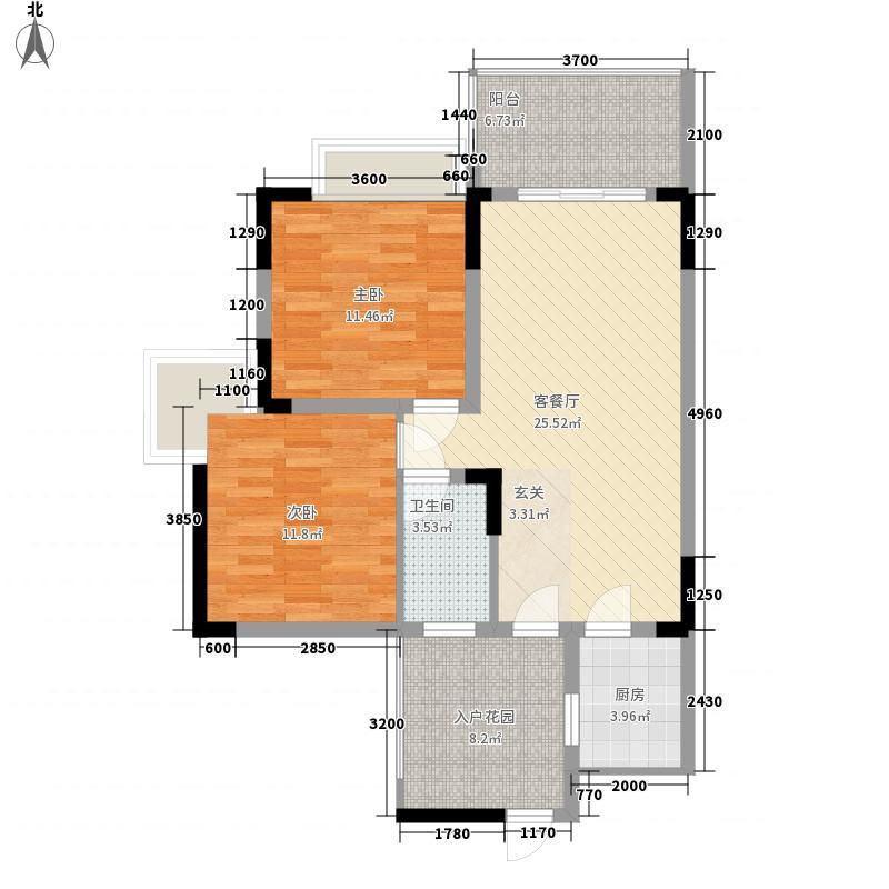 惠景豪苑二期户型2室