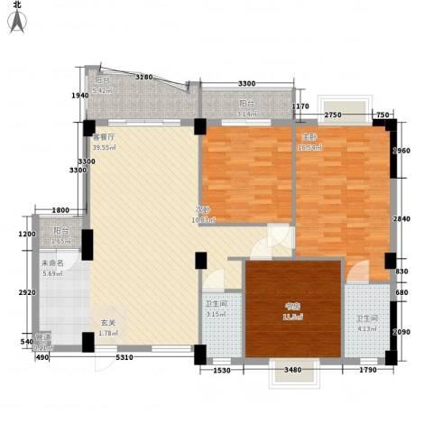 昌泰盛世家园3室1厅2卫0厨119.00㎡户型图