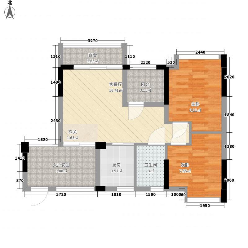 阳光玫瑰园77.46㎡阳光玫瑰园户型图3栋1、2单元A户型2室1厅1卫户型2室1厅1卫