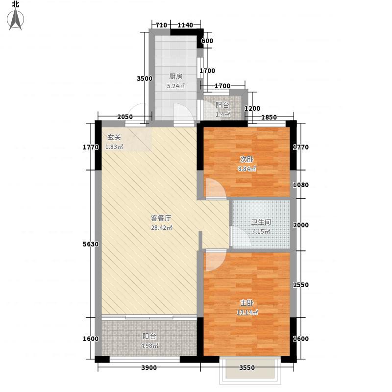 香邑国际户型2室2厅1卫1厨