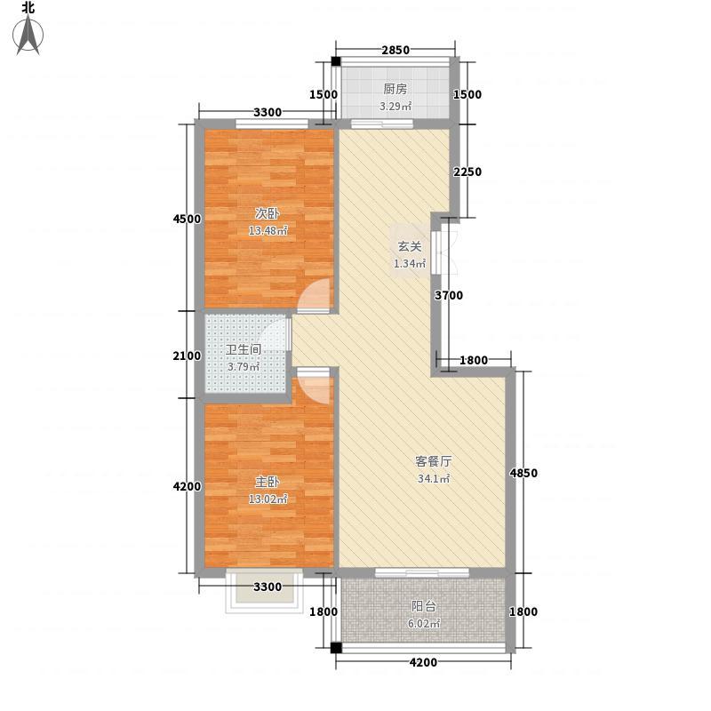 路缘小区户型2室