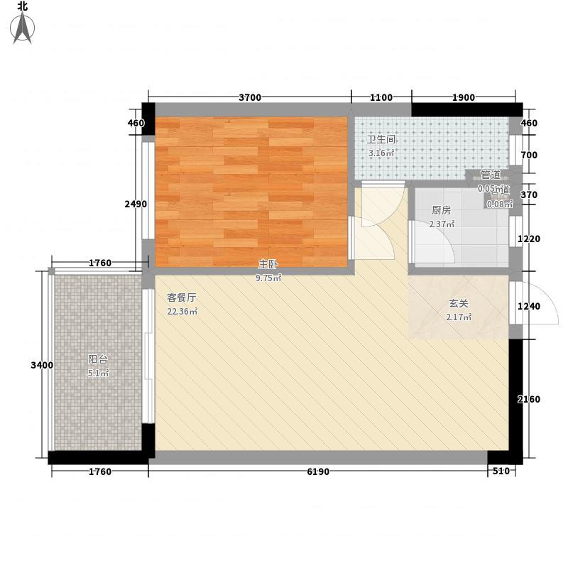 金旺新苑5.00㎡户型1室