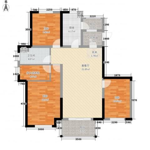 金辉城3室1厅1卫1厨116.00㎡户型图