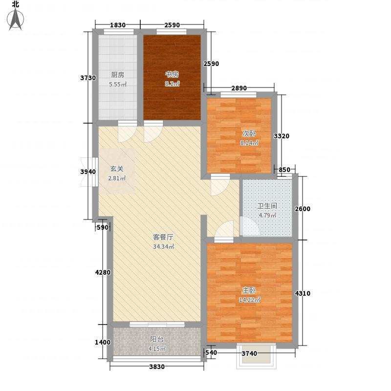 奥运城113.60㎡C5/C8号楼G户型3室2厅1卫1厨