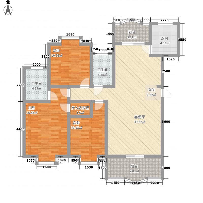 东立国际126.00㎡户型3室
