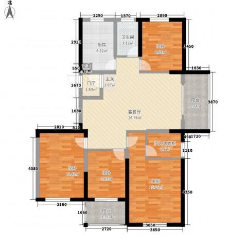 金辉城4室1厅1卫1厨137.00㎡户型图