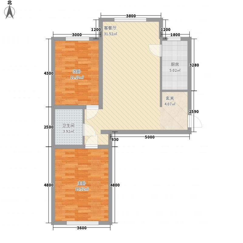 地矿小区7户型2室1厅1卫1厨