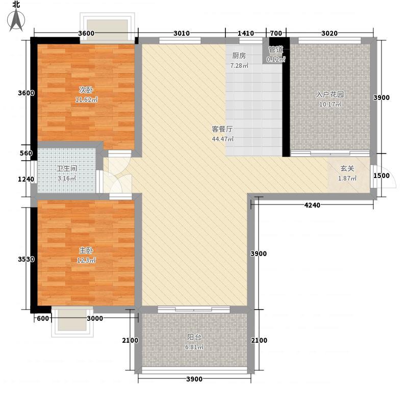 三和光谷道2室1厅1卫0厨126.00㎡户型图