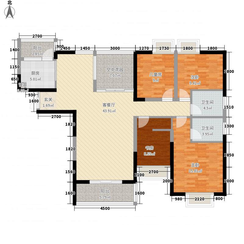 盛世年华15.83㎡4户型4室2厅2卫1厨