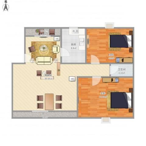 东苑新天地-211-862室1厅1卫1厨108.00㎡户型图