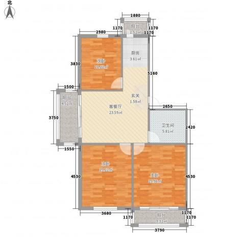 时代大厦3室1厅1卫0厨112.00㎡户型图