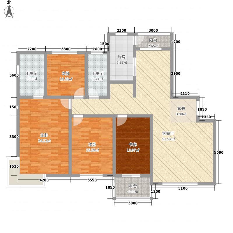 高格蓝湾16.00㎡S户型4室2厅2卫