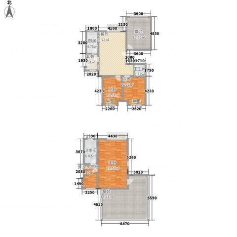巨龙江山国际3室1厅2卫1厨213.00㎡户型图