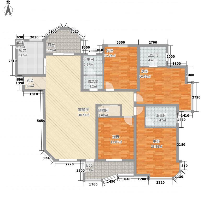 富川瑞园18.00㎡半月湾G3户型4室2厅3卫1厨